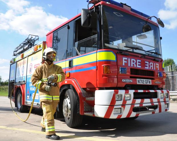 Crews called to Chapelford plant pot fire