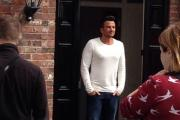Peter Andre films advert in Culcheth